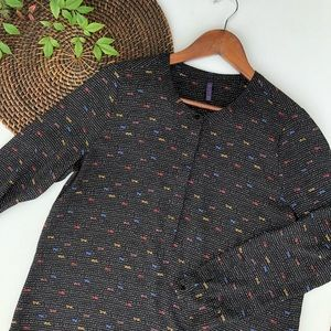 NYDJ Shirt Black Oui Pront Long Sleeve Blouse MP
